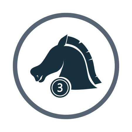and the third: Third place horse in a ride icon