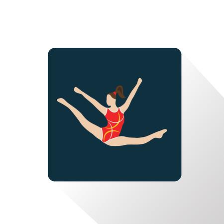 twine: Color circus gymnast icon Illustration