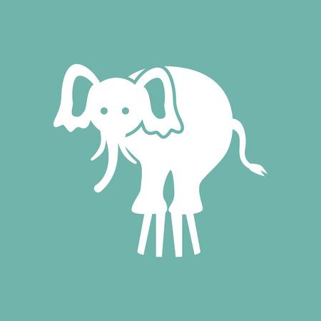 circus elephant: Circus elephant icon