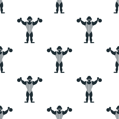 strongman: Circus strongman icon Illustration