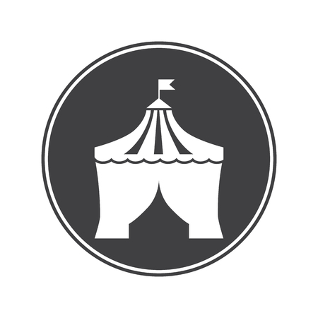 dome: Circus dome icon Illustration