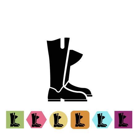 jockey: Horse jockey boots icon