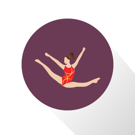 stage costume: Color circus gymnast icon Illustration