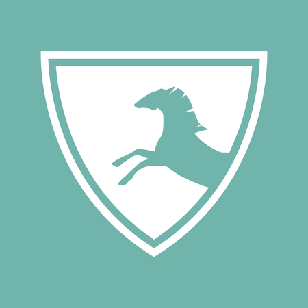 racing sign: Horse racing sign icon