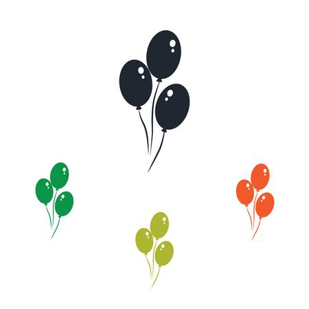 air: Air balloons icon Illustration