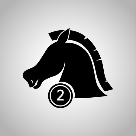 second place: Second place horse in a ride icon