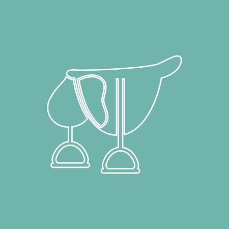 horse saddle: Horse saddle icon