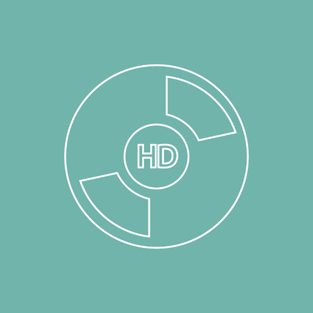 actors: Disk with HD quality film icon Illustration