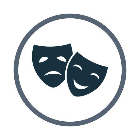 comedy: Drama and comedy masks icon