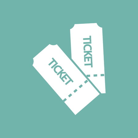 two: Two cinema tickets icon