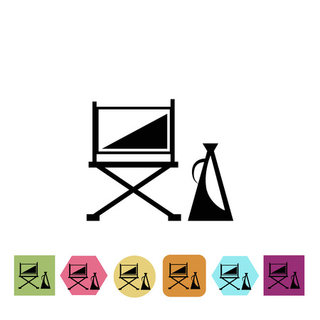 speaker icon: Director chair and speaker icon