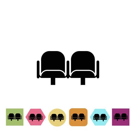 armchairs: Cinema armchairs icon Illustration