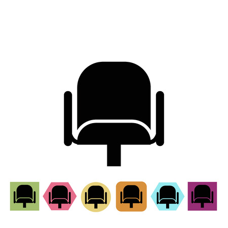armchair: Cinema armchair icon Illustration
