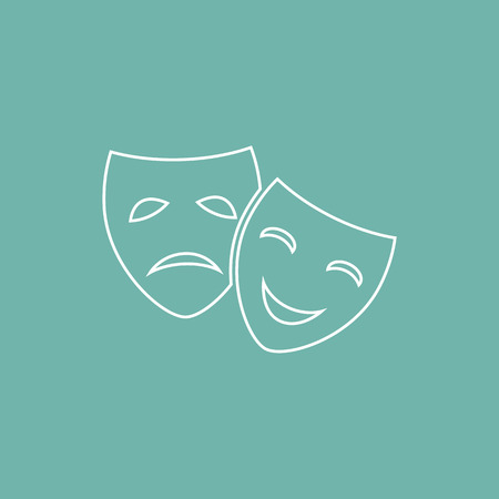 comedy: Drama and comedy masks icon