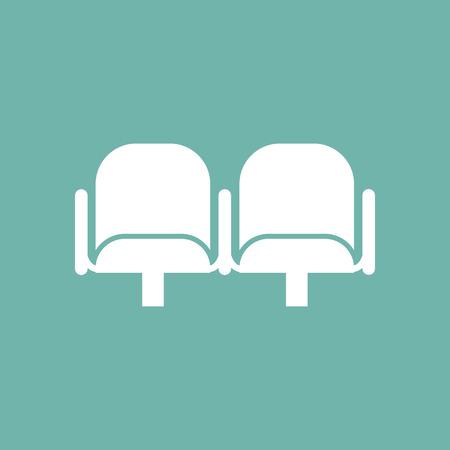 spectator: Cinema armchairs icon Illustration