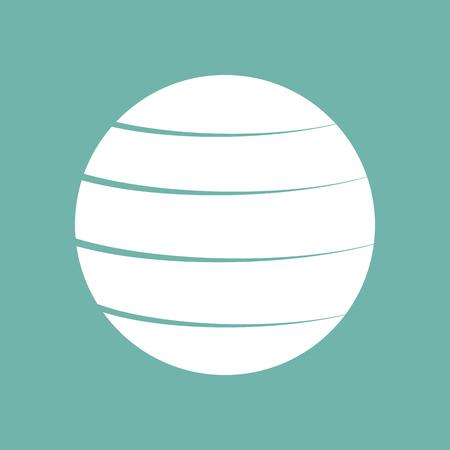 fitness ball: Fitness ball icon Illustration