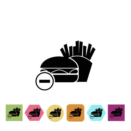 harmful: Harmful food for athlet icon
