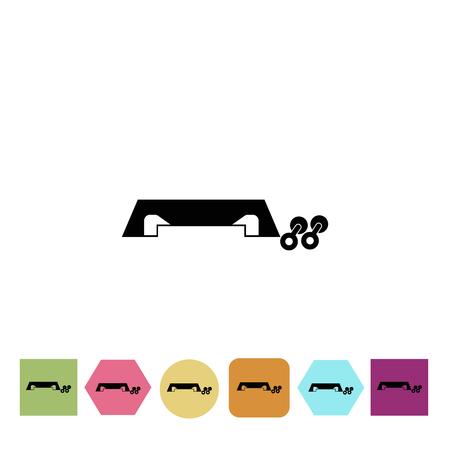 sport equipment: Sport equipment icon Illustration