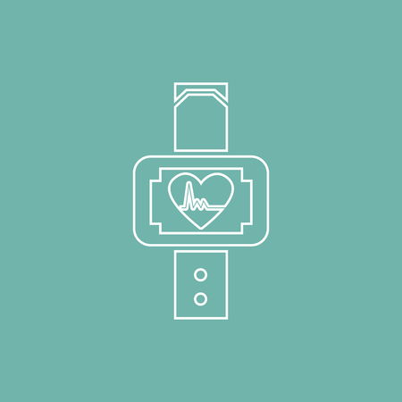 heart tone: Sport watches icon Illustration