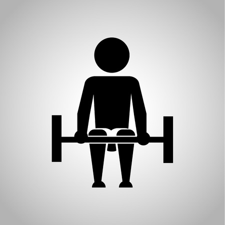 squat: Athlete icon Illustration