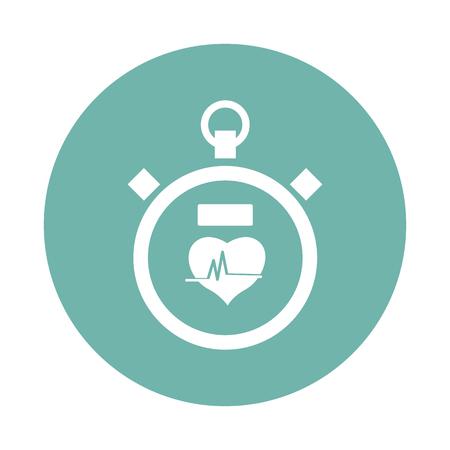 heart tone: Stopwatch icon