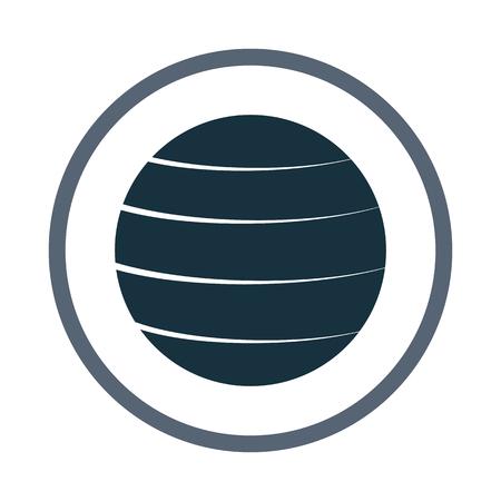 puffy: Fitness ball icon Illustration