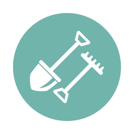rake: Shovel and rake icon