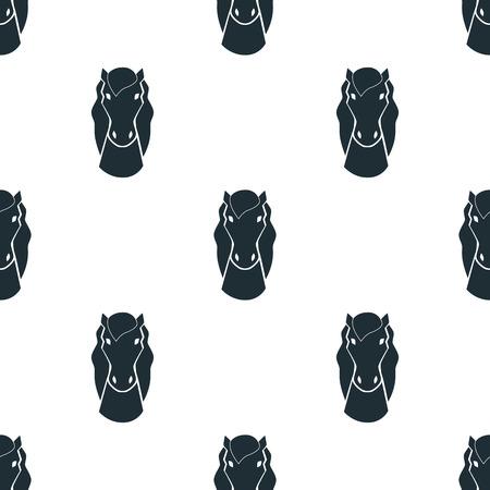 ungulate: Horse icon Illustration