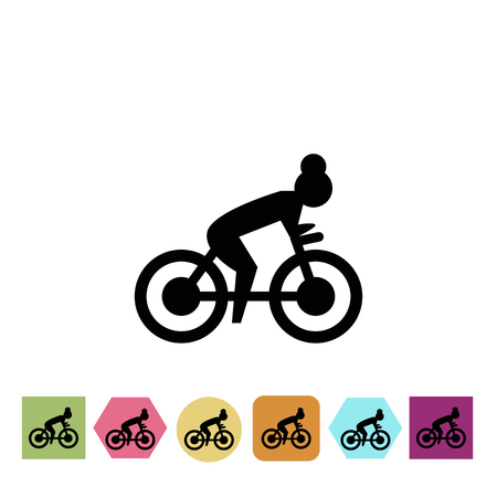 bile: Bile simulater gym icon Illustration