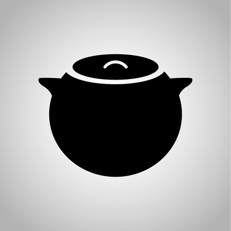 clay pot: Clay pot icon Illustration