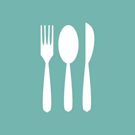 fork and spoon: Fork, spoon and knife icon