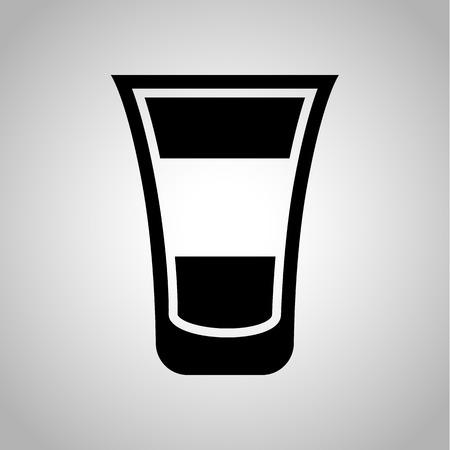 short: Short cocktail icon Illustration