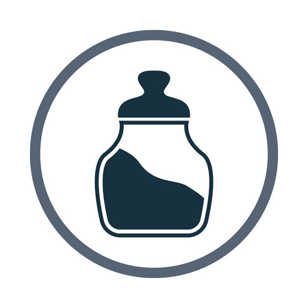 food storage: Jar for bulks icon