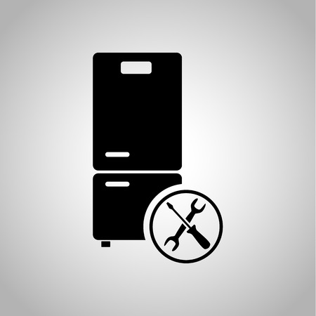 fridge: Fridge repair icon Illustration