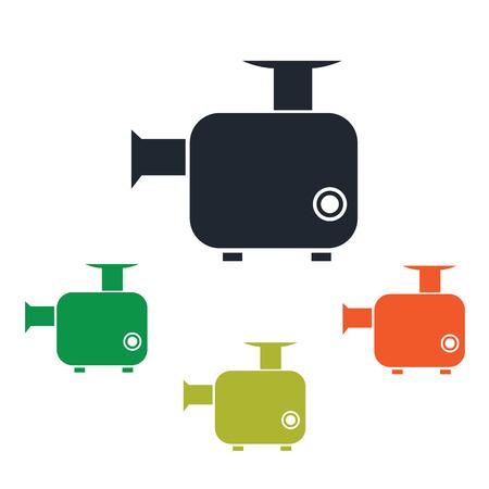meat chopper: Chopper icon Illustration