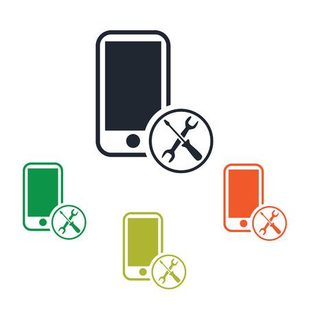 Mobile phone repair icon  イラスト・ベクター素材