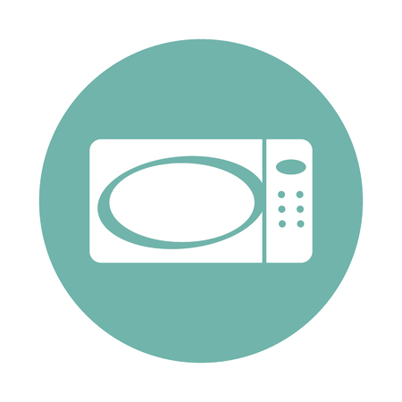 microwave: Microwave icon Illustration