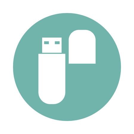 flash drive: Flash drive icon