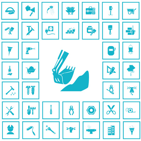 forty: Set of forty construction icons Illustration