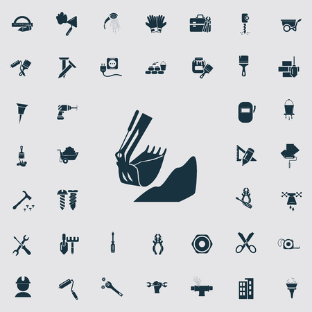 construction icons: Set of forty construction icons Illustration