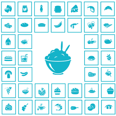 forty: Set of forty food icons Illustration