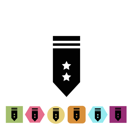merit: Military epaulettes icon Illustration