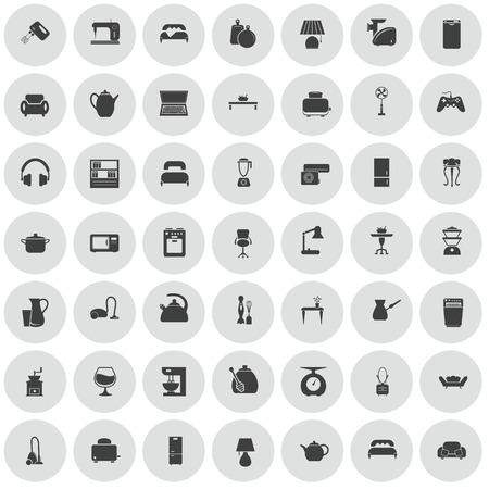 det: Det of forty nine house icons Illustration