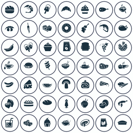 forty: Set of forty nine food icons