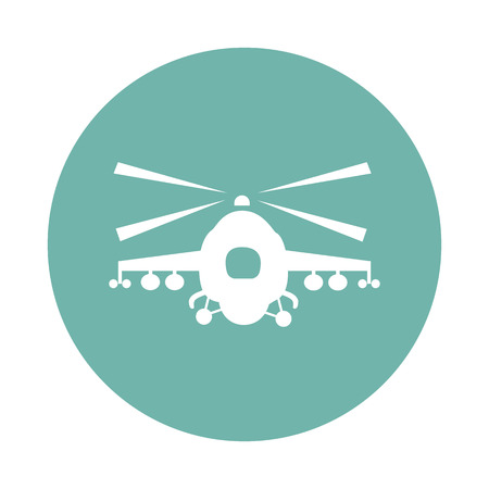 military helicopter: Military helicopter icon