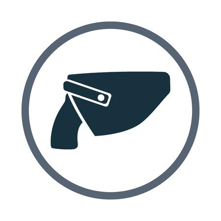 holster: Gun in holster icon