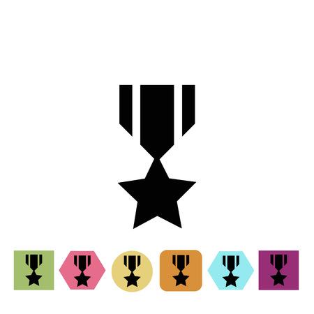 merit: Military award icon Illustration