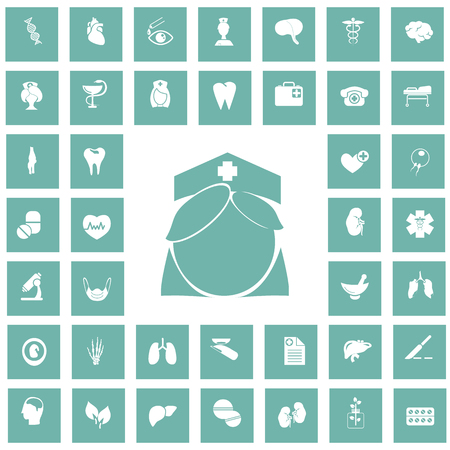 forty: Set of forty medicine icons
