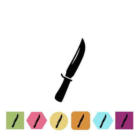 cold steel: Dagger icon Illustration