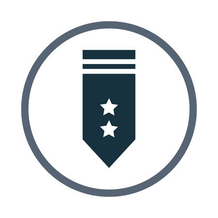 epaulettes: Military epaulettes icon Illustration